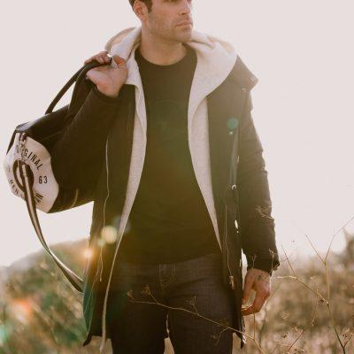 man wearing jacket close up